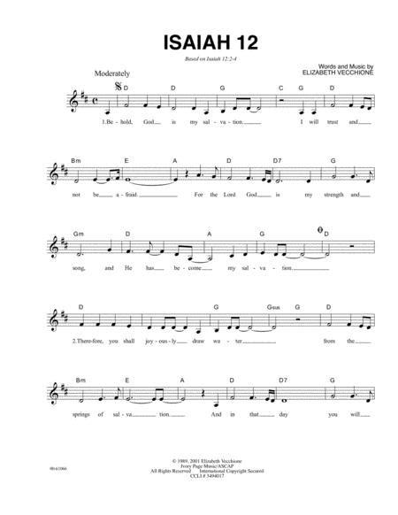 Isaiah 12  music sheet