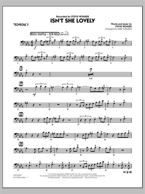 Isnt She Lovely Trombone  music sheet