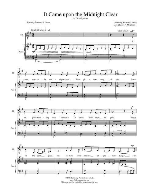 It Came Upon A Midnight Clear Trombone  music sheet