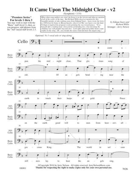 It Came Upon The Midnight Clear V2 Arrangements Level 1 3 For Trombone Written Acc  music sheet