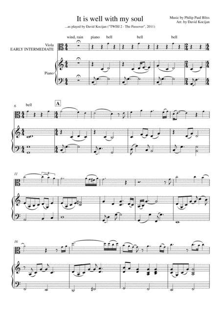 It Is Well With My Soul Early Intermediate Piano  music sheet