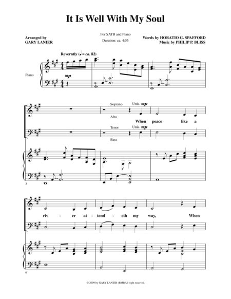 It Is Well With My Soul For Small Handbell Choir  music sheet
