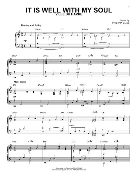 It Is Well With My Soul Sacred Cello And Piano  music sheet
