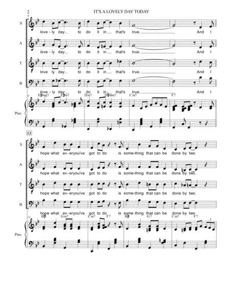 Its A Lovely Day Today Satb Parts Only  music sheet