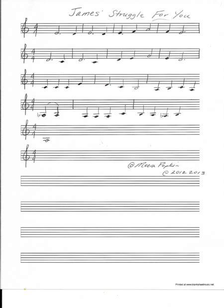 James Struggle For You music sheet