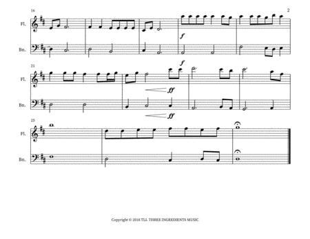 Jana Gana Mana India National Anthem Flute And Bassoon Duet  music sheet
