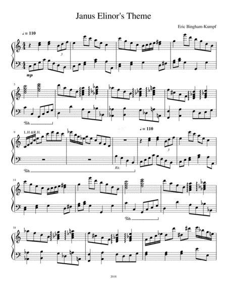 Janus Elinors Theme  music sheet