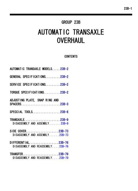 free download ebooks Jatco Service Manual.pdf