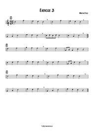 Jazz Exercise 3 Easy Tenor Saxophone  music sheet