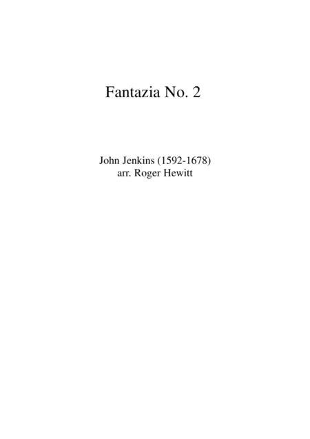 Jenkins Fantazia No 2  music sheet