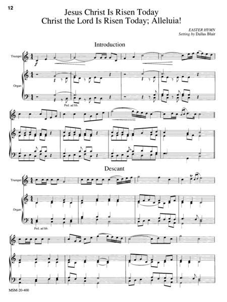 Jesus Christ Is Risen Today With Christ The Lord Is Risen Today For C Trumpet Solo And Piano  music sheet