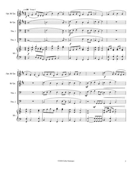Jesus Christ Is Risen Today With Ye Watchers And Ye Holy Ones Brass Trio Two Bb Trumpets Trombone  music sheet