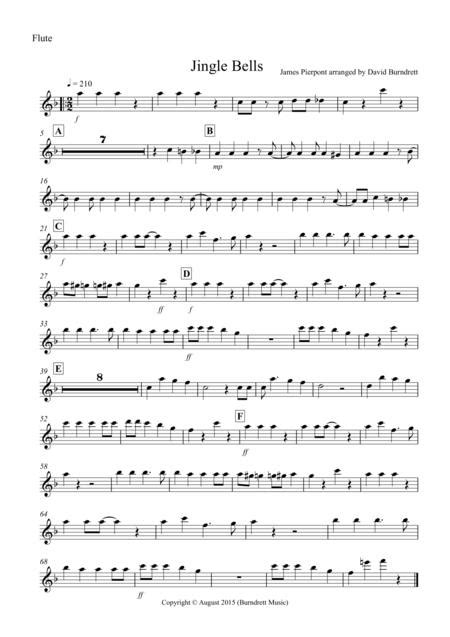 Jingle Bells Jazzy Style For Wind Trio  music sheet