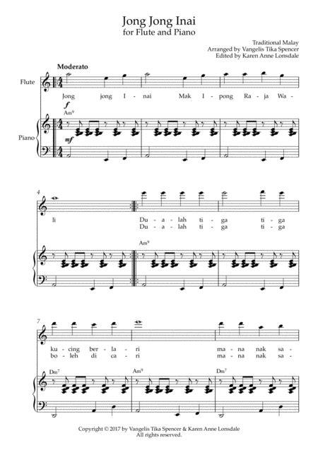 jong jong inai for flute and piano music sheet