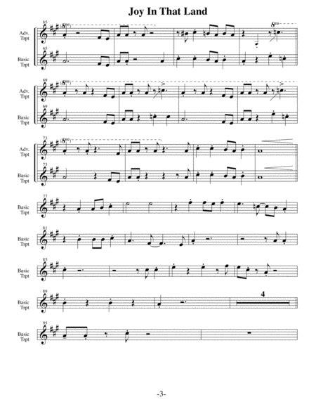 Joy In That Land Arrangements Level 3 5 For Horn Written Acc Hymns music sheet