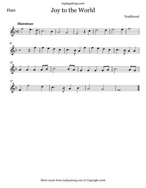 Joy To The World For Flute Trio  music sheet