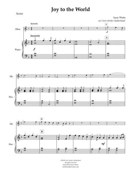 Joy To The World Very Easy Beginner For Oboe  music sheet