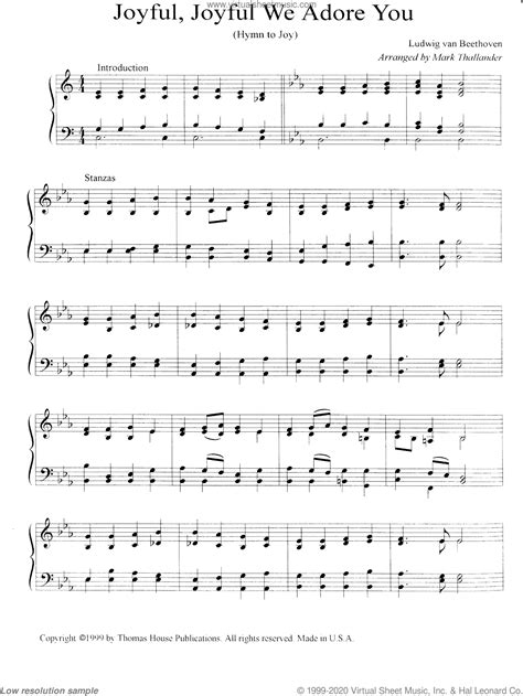 Joy To The World With Joyful Joyful We Adore Thee For String Quartet And Piano  music sheet