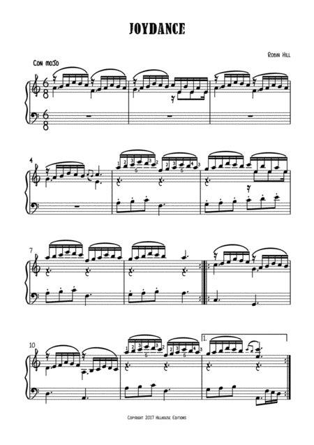 Joydance  music sheet