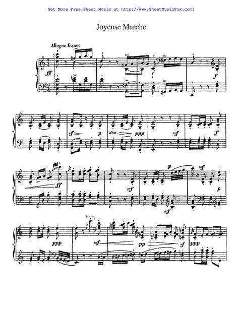 Joyeuse Marche  music sheet