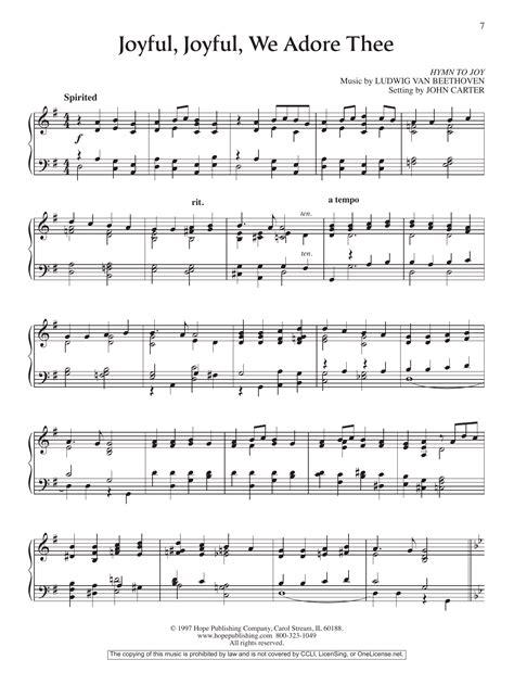 Joyful Joyful We Adore Thee Piano  music sheet