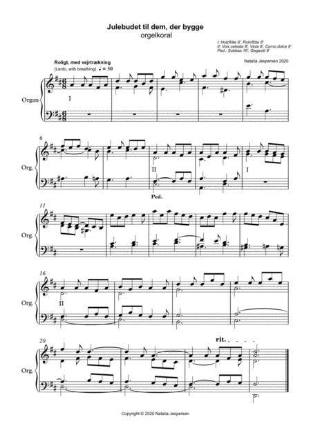 Julebudet Til Dem Der Bygge  music sheet
