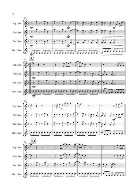 Jump By Van Halen Saxophone Quartet Satb  music sheet