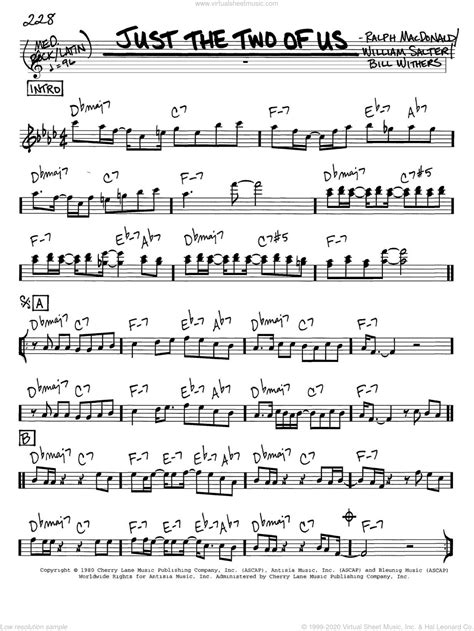 Just The Two Of Us Saxophone Quartet  music sheet