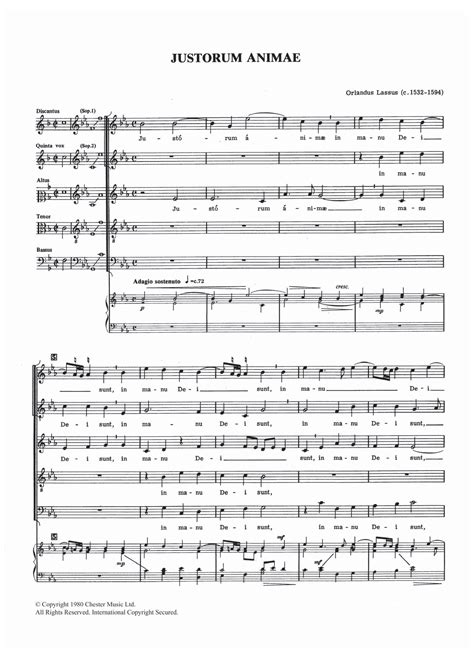Justorum Animae  music sheet