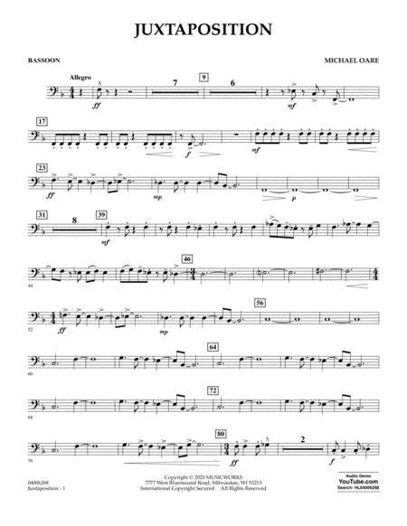 Juxtaposition Bassoon  music sheet
