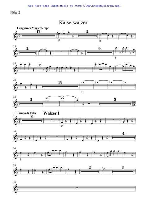 Kaiser Waltzer  music sheet