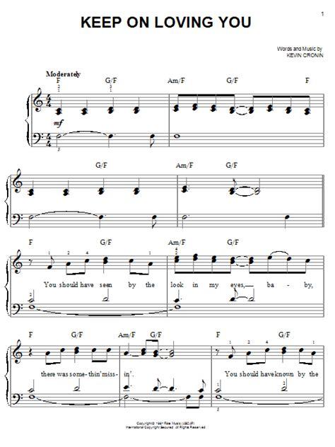 Keep On Loving You  music sheet