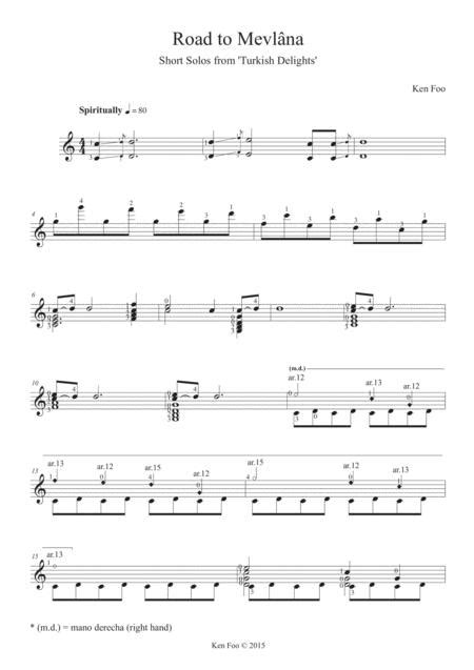 Ken Foo Road To Mevlna Original Work  music sheet