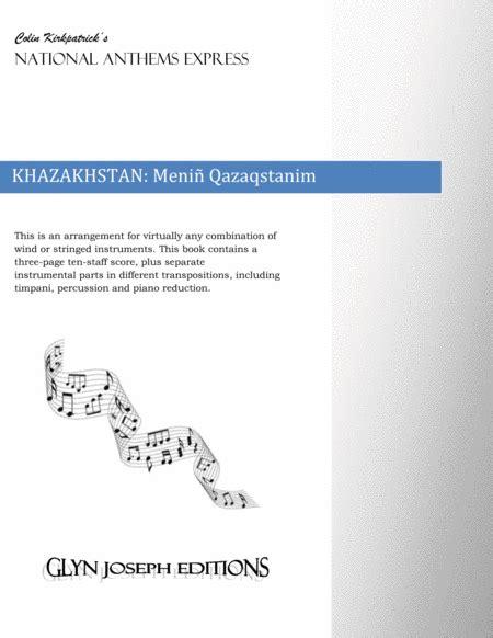 Khazakhstan National Anthem Meni Qazaqstanim  music sheet