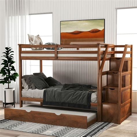 kids bunk bed trundle bed single double bed