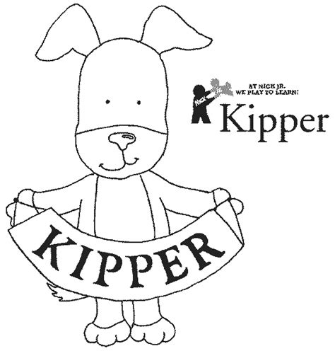 kipper the dog colouring pages page 2 birthday party