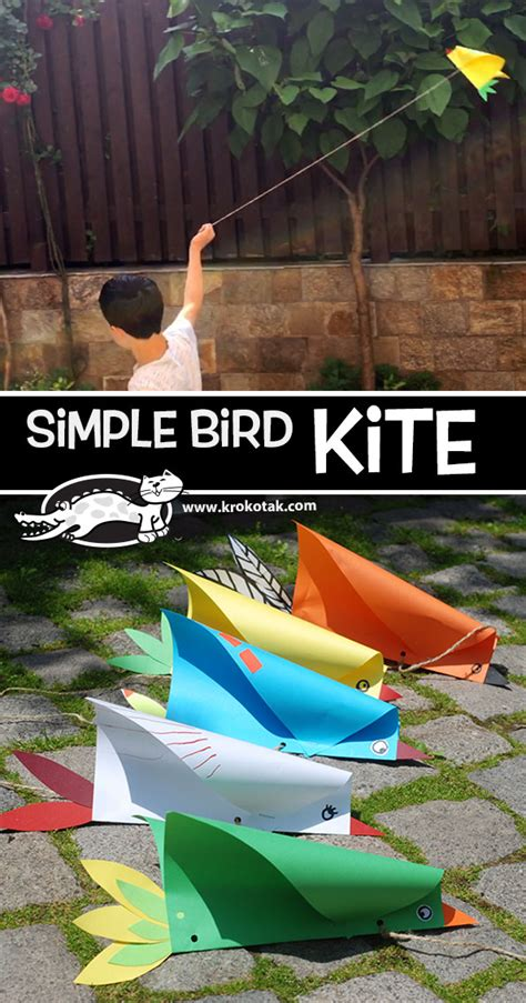 krokotak Simple Bird Kite