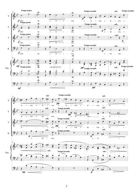 Kyrie For Solo Tenor Choir And Organ  music sheet