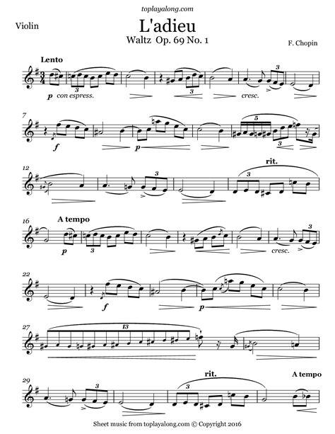 L Adieu  music sheet