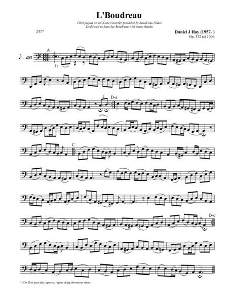 L Boudreau Bass Solo  music sheet