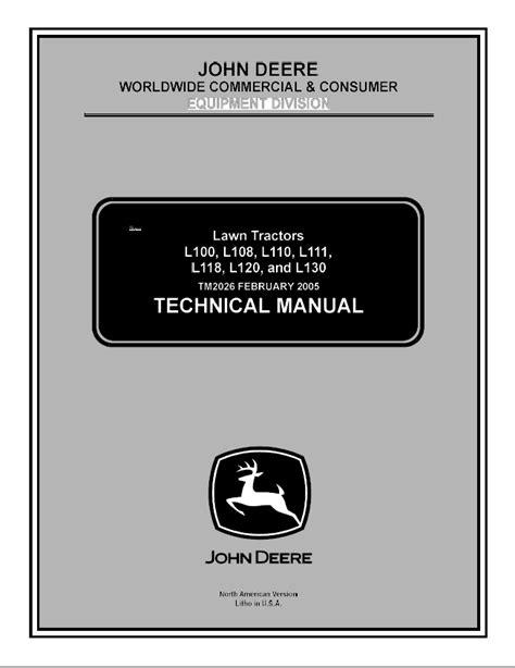 free download ebooks L108 John Deere Manual.pdf