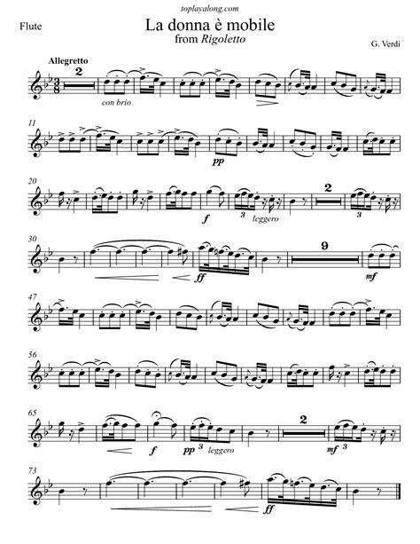 La Donna E Mobile From Rigoletto For Brass Quartet  music sheet