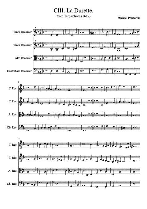 la durette music sheet