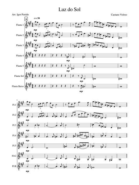 La Luz Del Sol  music sheet