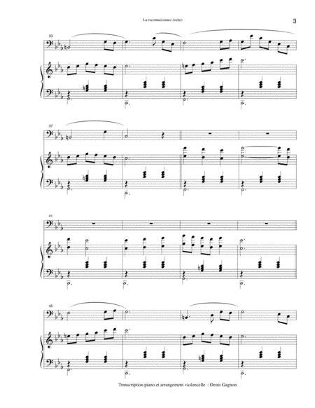 La Reconnaissance Piano Solo Dtaill  music sheet