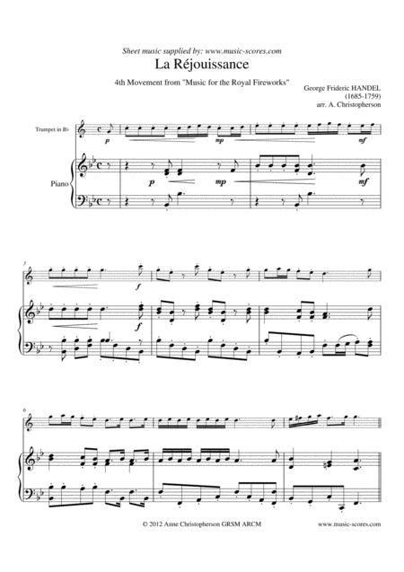 La Rjouissance Piccolo Trumpet Trumpet Piano  music sheet