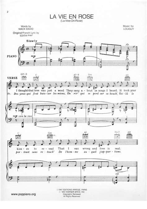 La Vie En Rose For Viola And Piano  music sheet