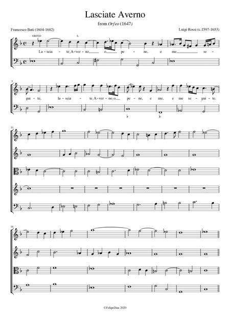 Lasciate Averno  music sheet