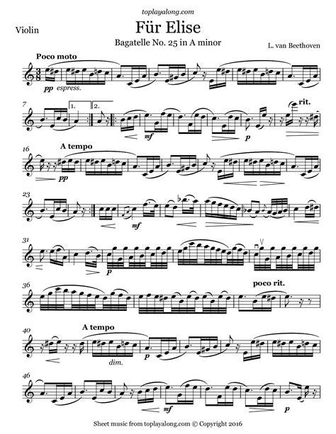 Latin For Elise  music sheet