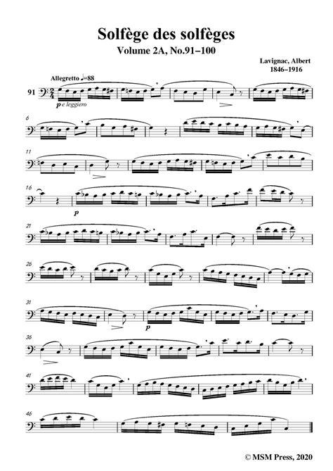 lavignac solfge des solfges volume 8a no 2 for voice music sheet